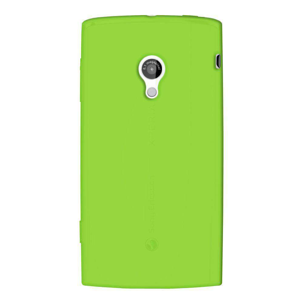 AMZER Silicone Skin Jelly Case for Sony Ericsson Xperia X10 - Green - amzer