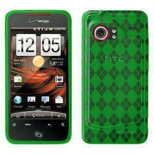 AMZER Luxe Argyle Skin Case for HTC DROID Incredible PB31200 - Green