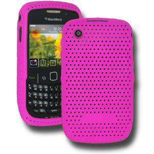 AMZER Mesh Silicone Skin Jelly Case for BlackBerry Curve 3G 9300 - Hot Pink