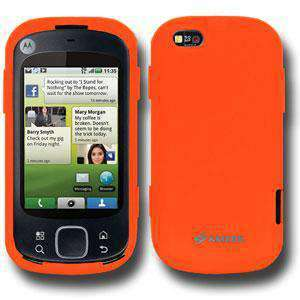 AMZER Silicone Skin Jelly Case for Motorola CLIQ XT MB501 - Orange - amzer