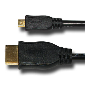 AMZER Micro HDMI High Speed Male to HDMI Male Cable - Black