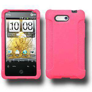 AMZER Rugged Silicone Skin Jelly Case for HTC Aria - Baby Pink