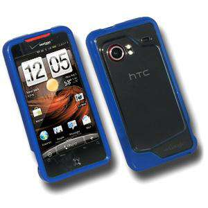 AMZER Soft TPU Hybrid Case for HTC DROID Incredible PB31200 - Blue - amzer