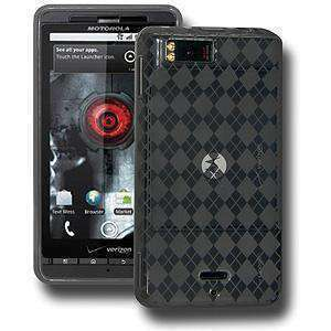 AMZER Luxe Argyle Skin Case for Motorola Droid X MB810 - Smoke Grey