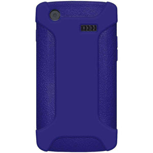 AMZER Silicone Skin Jelly Case for Samsung Captivate i897 - Blue - amzer