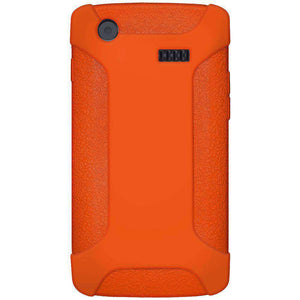AMZER Silicone Skin Jelly Case for Samsung Captivate i897 - Orange - amzer