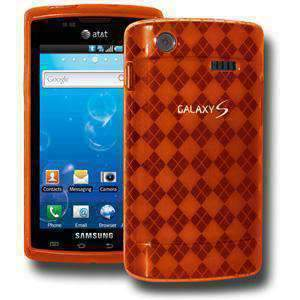 AMZER Luxe Argyle Skin Case for Samsung Captivate i897 - Orange