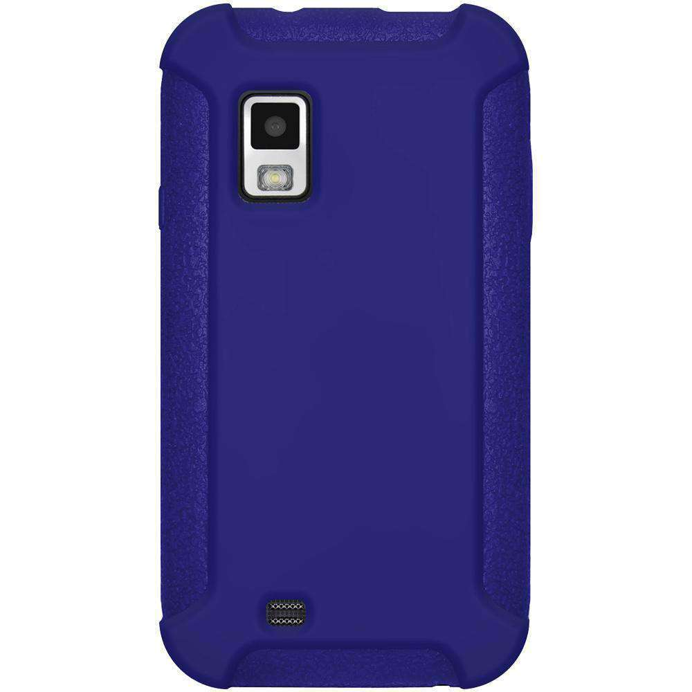 AMZER Silicone Skin Jelly Case for Samsung Fascinate - Blue - amzer
