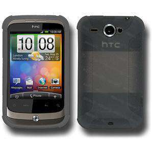 AMZER Silicone Skin Jelly Case for HTC Wildfire - Grey