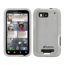 Load image into Gallery viewer, AMZER Silicone Skin Jelly Case for Motorola DEFY MB525 - Transparent White - amzer
