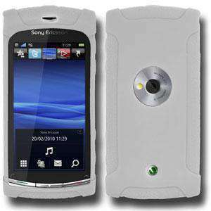 AMZER Silicone Skin Jelly Case for Sony Ericsson Vivaz U5 - Transparent White - amzer