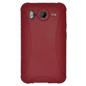 AMZER Silicone Skin Jelly Case for HTC Desire HD - Maroon Red