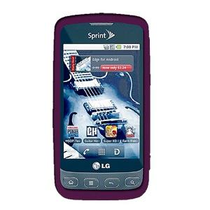 AMZER Silicone Skin Jelly Case for LG Optimus S LS670 - Purple - amzer