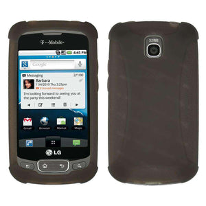 AMZER Silicone Skin Jelly Case for LG Optimus T - Grey - amzer