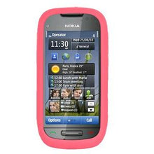 Load image into Gallery viewer, AMZER Silicone Skin Jelly Case for Nokia 701 - Baby Pink - amzer