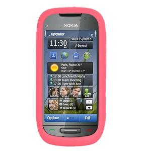 AMZER Silicone Skin Jelly Case for Nokia 701 - Baby Pink - amzer