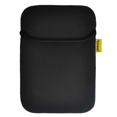Amzer® Neoprene Sleeve 7.5 Inches Case Cover with Pocket - Matt Black/ Leaf Green - amzer