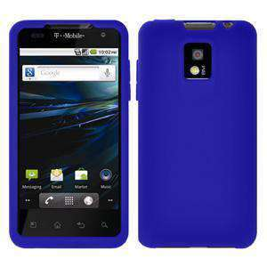 AMZER Silicone Skin Jelly Case for LG G2x - Blue - amzer