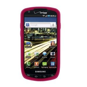 AMZER Silicone Skin Jelly Case for Samsung Droid Charge SCH-I510 - Hot Pink - amzer