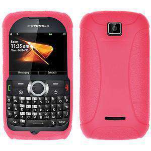 AMZER Silicone Skin Jelly Case for Motorola THEORY - Baby Pink - amzer