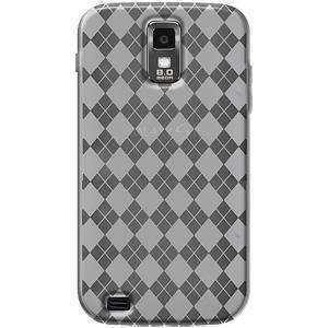 AMZER Luxe Argyle TPU Soft Skin Case for Samsung Galaxy S II SGH-T989 - Clear