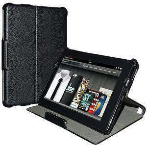 AMZER Shell Portfolio Case Leather Texture for Amazon Kindle Fire - Black