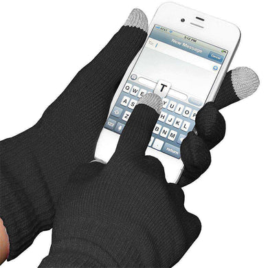 Amzer® Capacitive Touch Screen Knit Gloves-Black - amzer