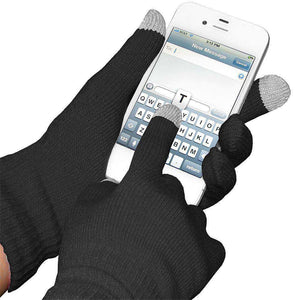 Amzer® Capacitive Touch Screen Knit Gloves-Black