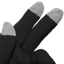 Load image into Gallery viewer, Amzer® Capacitive Touch Screen Knit Gloves-Black - amzer