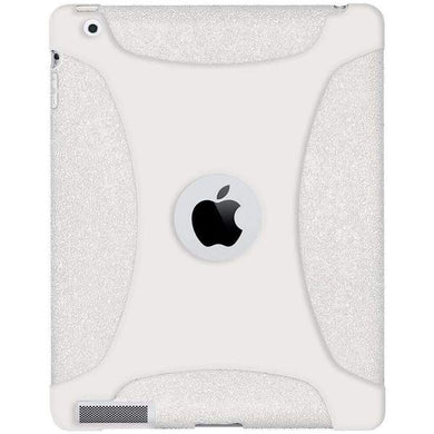 AMZER Shockproof Rugged Silicone Skin Jelly Case for iPad 3 - Solid White