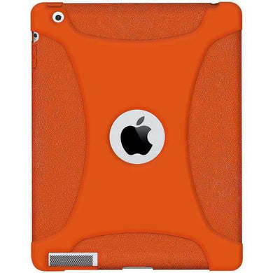 AMZER Shockproof Rugged Silicone Skin Jelly Case for iPad 3 - Orange