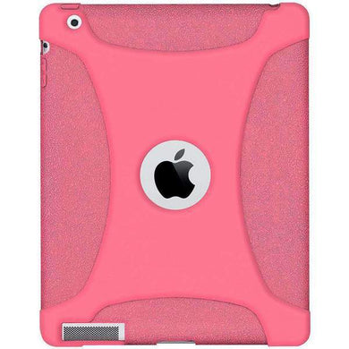 AMZER Shockproof Rugged Silicone Skin Jelly Case for iPad 3 - Baby Pink