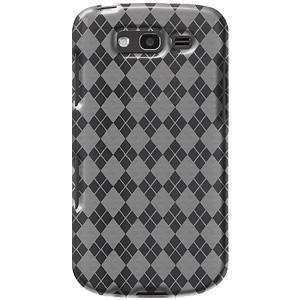 AMZER Luxe Argyle TPU Soft Gel Skin Case for Samsung Galaxy S Blaze 4G - Clear