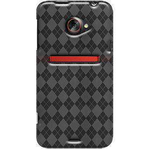 AMZER Luxe Argyle TPU Soft Gel Skin Case for HTC EVO 4G LTE - Smoke Grey