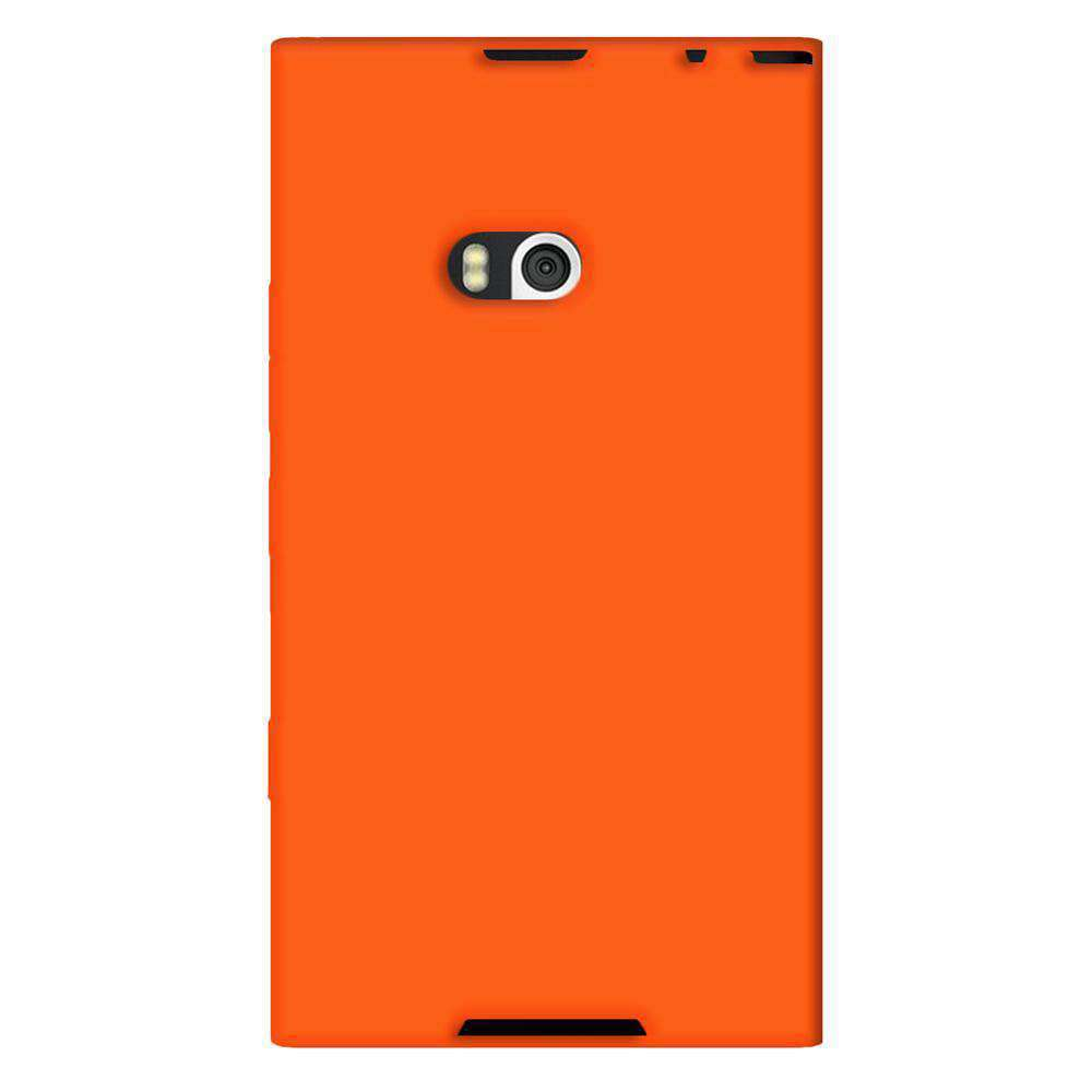 AMZER Silicone Skin Jelly Case for Nokia Lumia 900 - Orange - amzer