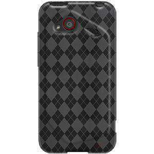 AMZER Luxe Argyle TPU Soft Skin Case for HTC DROID Incredible 4G - Smoke Grey