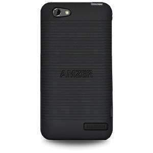 AMZER Snap On Case for HTC One V - Black - amzer