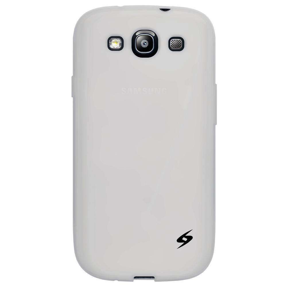 AMZER Silicone Skin Jelly Case for Samsung GALAXY S III - Transparent White