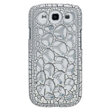 Load image into Gallery viewer, AMZER Synapse Snap On Hard Case for Samsung GALAXY S III-White/Black Craquelure - amzer