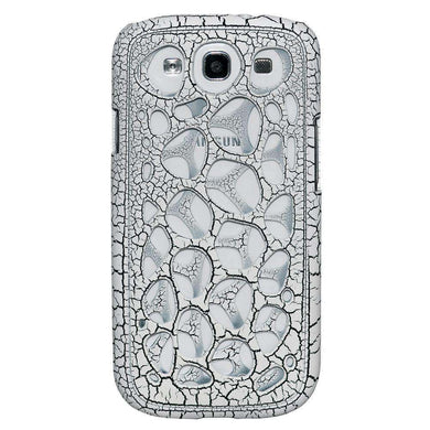 AMZER Synapse Snap On Hard Case for Samsung GALAXY S III-White/Black Craquelure