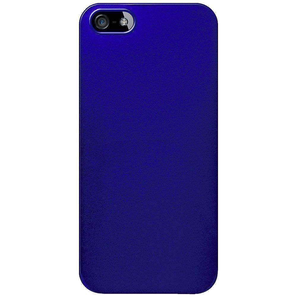 AMZER 1 MM Super Slim Simple Case with Screen Protector for iPhone 5 - Blue - amzer