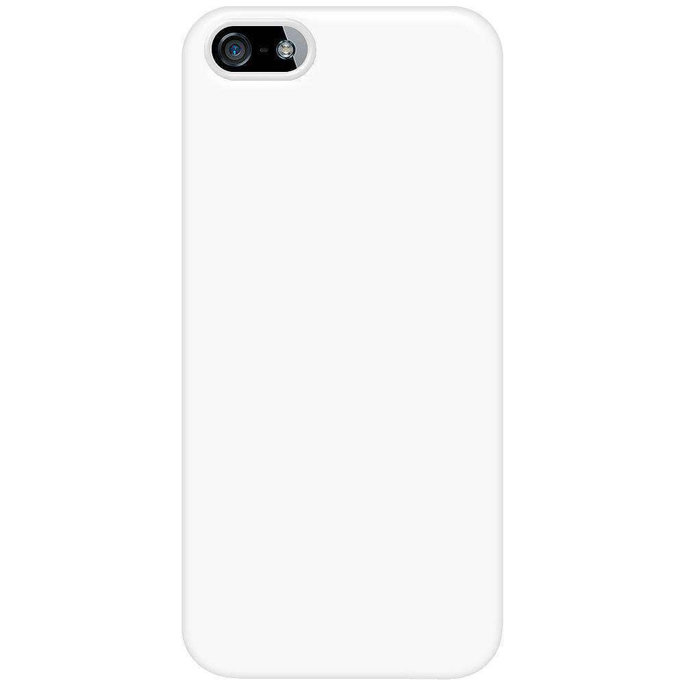 AMZER 1 MM Super Slim Simple Case with Screen Protector for iPhone 5 - White