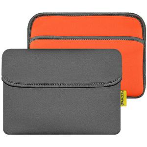 AMZER 8 inch Reversible Neoprene Horizontal Sleeve Pouch Tablet Bag With Pocket - amzer