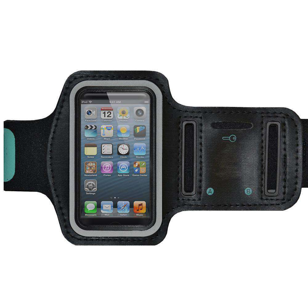 AMZER Water/Sweat Resistant Sports Armband with Key Holder for iPhone 5 - amzer