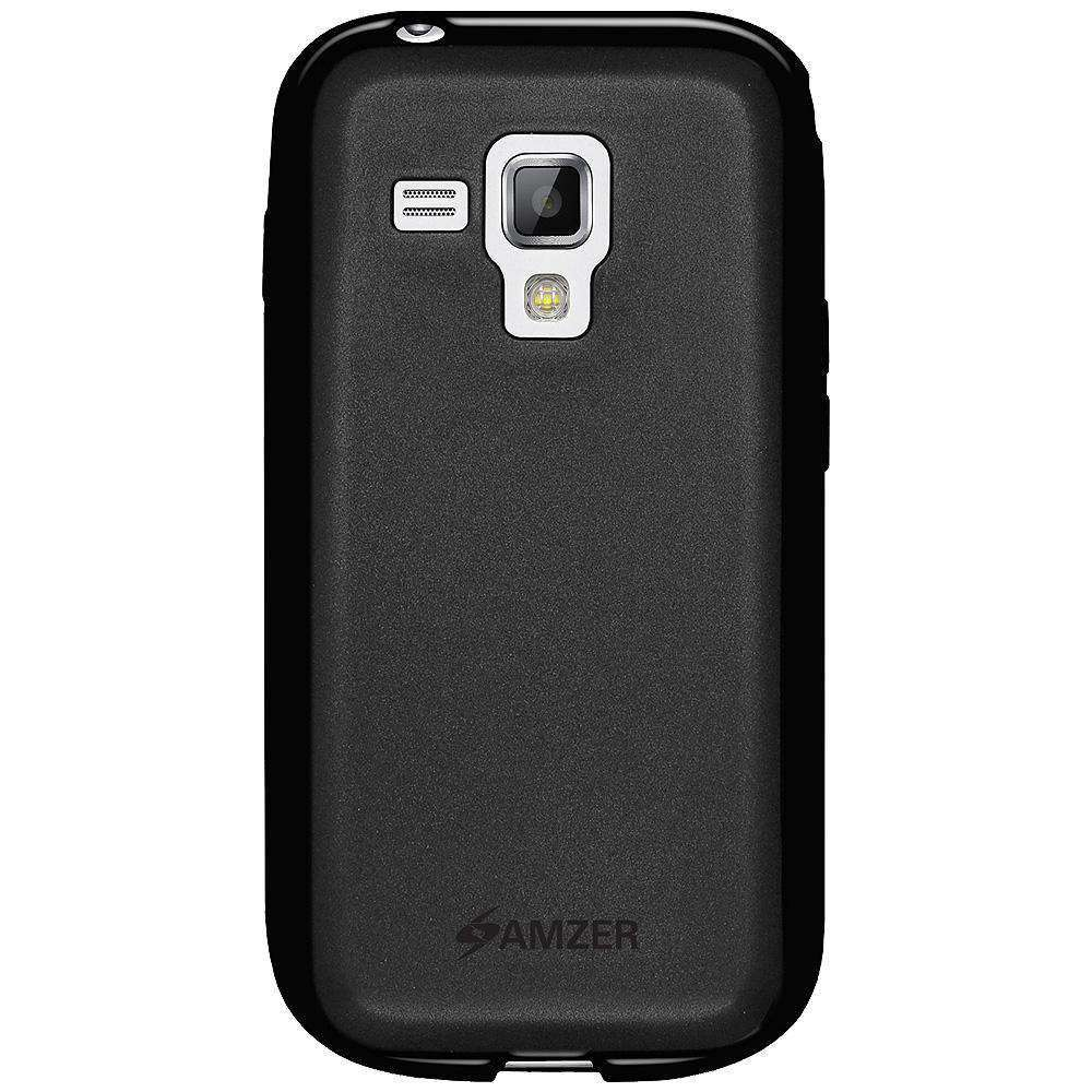 AMZER Pudding Soft TPU Skin Case for Samsung Galaxy S Duos 2 GT-S7582 - Black - amzer