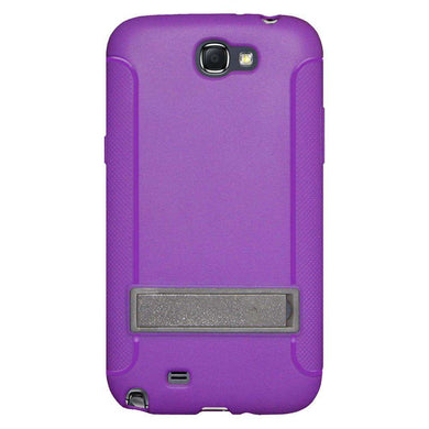 AMZER Soft TPU Skin Case with Kickstand for Samsung Galaxy Note II - Purple
