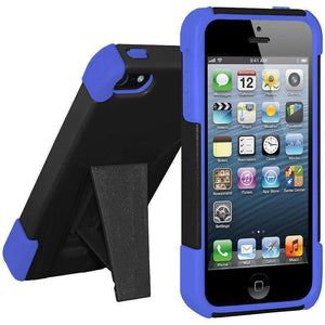 AMZER Double Layer Hybrid Kickstand Case for iPhone 5