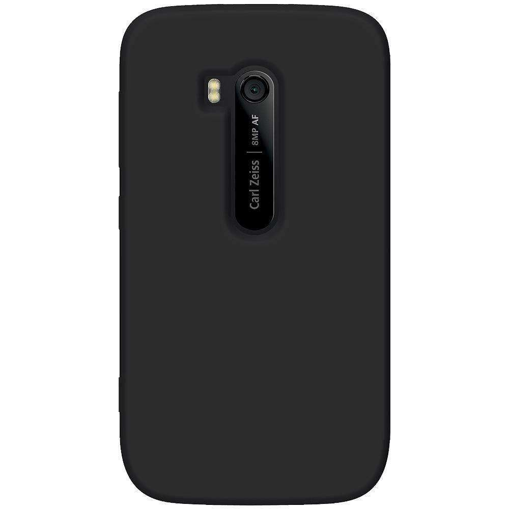 AMZER Silicone Skin Jelly Case for Nokia Lumia 822 - Black - amzer