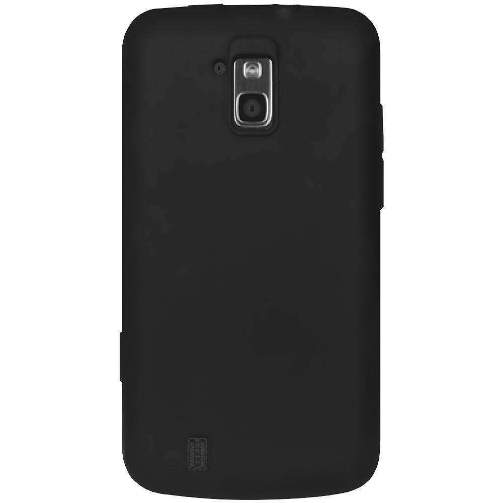 AMZER Silicone Skin Jelly Case for ZTE Force N9100 - Black - amzer
