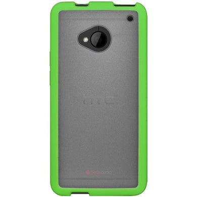 AMZER SlimGrip Bumper Hybrid Case for HTC One M7 - Cloudy/ Green